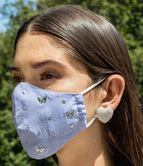Face Mask - Chambray Charm