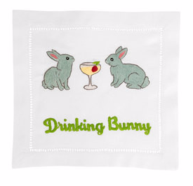 Drinking Bunnies Cocktail Napkins (Set of 4)