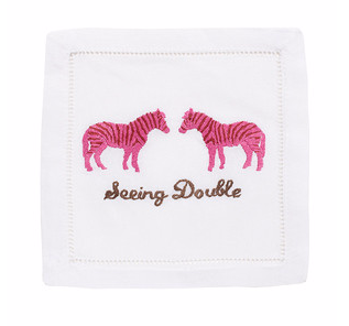 Seeing Double Cocktail Napkins (Set of 4)