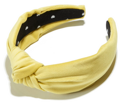 Knotted Velvet Headband - Honey