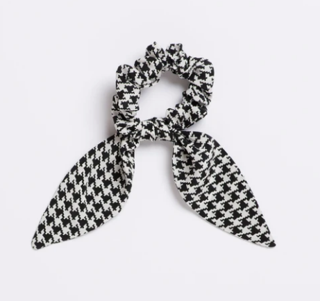 French Connection Silk Scrunchie Tie
