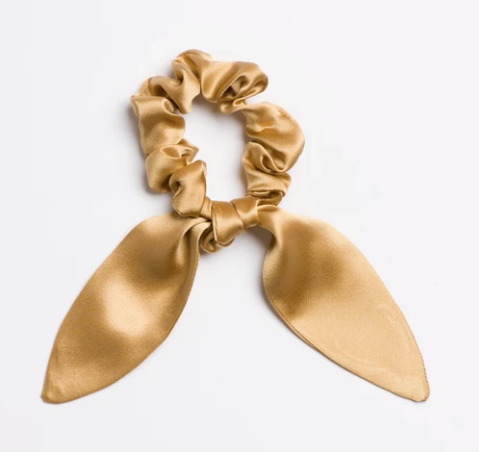 Gold Rush Silk Scrunchie Tie
