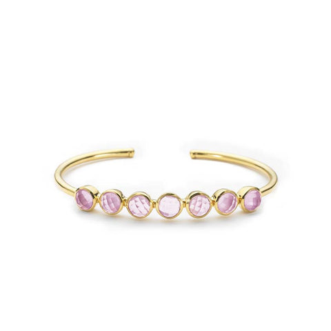 Rimini Bangle Pink Amethyst