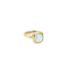 Cushion Cut Ring Moonstone