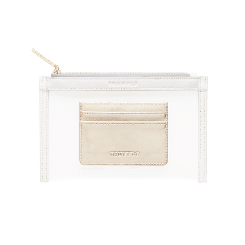 Clarity Clutch Mini + Card Case Duo White