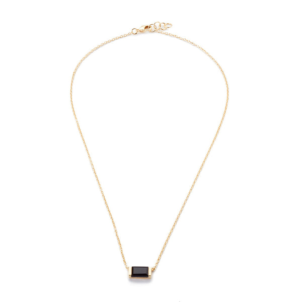 Channel Set Drop Necklace Black Onyx