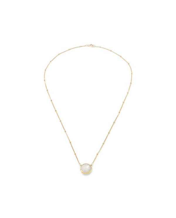 Bezel Necklace Moonstone