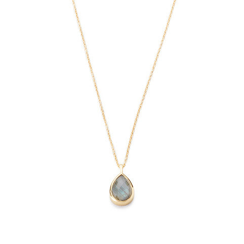 Teardrop Pendant Necklace Labradorite