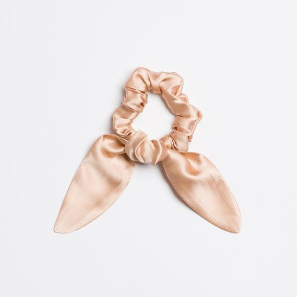 Champagne Supernova Silk Scrunchie Tie