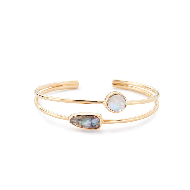Stinson Bangle Labradorite/Moonstone
