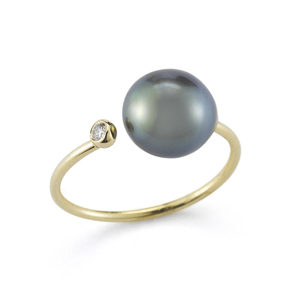 14k Gold Tahitian Pearl Ring