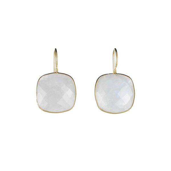 Cushion Cut Drops Moonstone