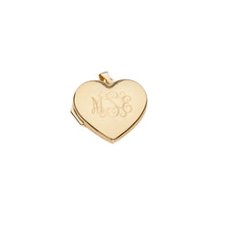 14k Heart Locket Charm