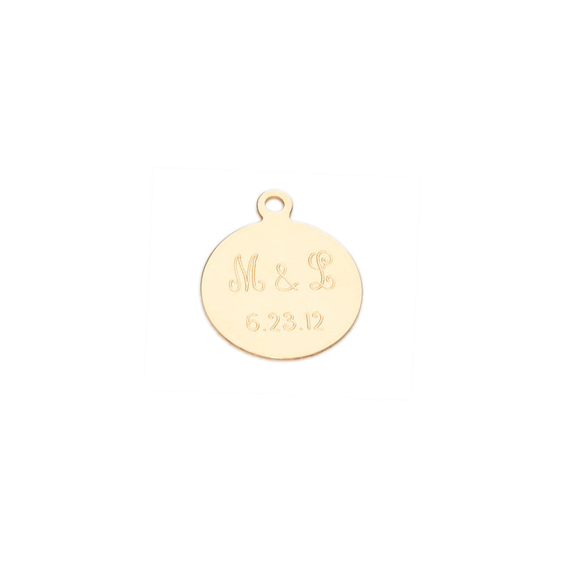 14k Small Disc Charm