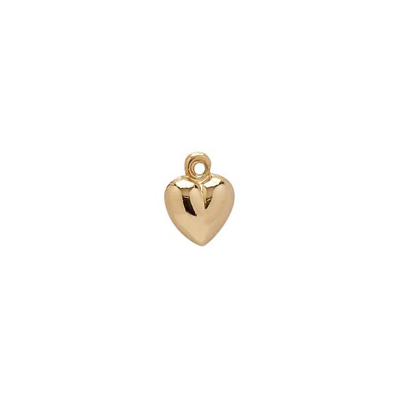 Vintage 14k Puffy Heart Charm