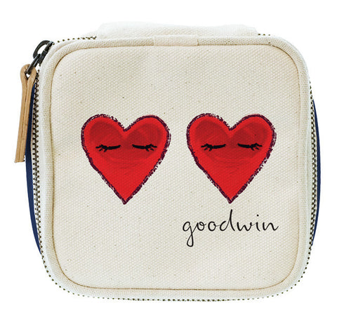 Travel Jewel Box Winking Hearts