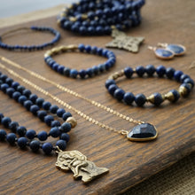Load image into Gallery viewer, lapis mala + ethiopian cross