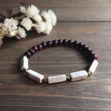 Load image into Gallery viewer, howlite + rosewood