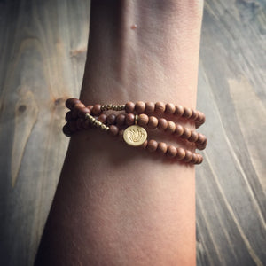 sandalwood + lotus wrap