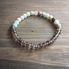 Load image into Gallery viewer, amazonite + smoky quartz