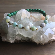 Load image into Gallery viewer, amazonite + green turquoise