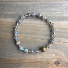 Load image into Gallery viewer, labradorite + bronzed agate