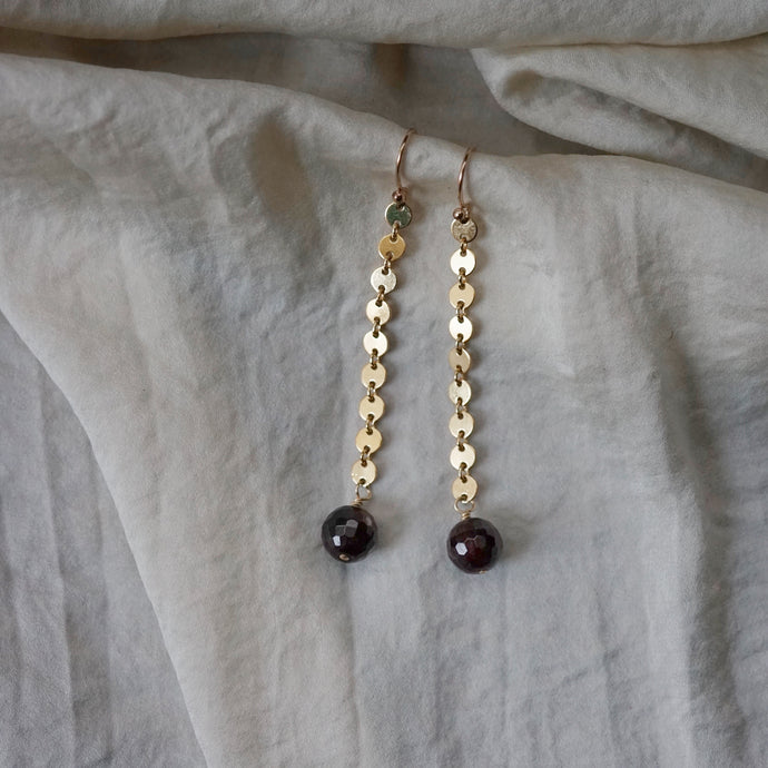 garnet ear adornments