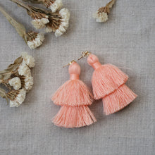 Load image into Gallery viewer, double tiered tassel earrings