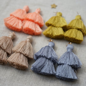 double tiered tassel earrings