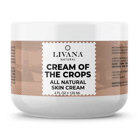 Image of Cream of the Crops - Intensive Moisturizing Cream for Sensitive and Irritated Skin, Soothes Rough, Dry, Scaly Patches, 4 FL OZ - Livananatural