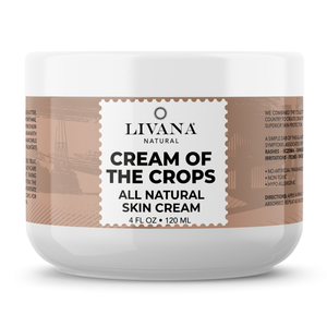 Cream of the Crops - Intensive Moisturizing Cream for Sensitive and Irritated Skin, Soothes Rough, Dry, Scaly Patches, 4 FL OZ - Livananatural