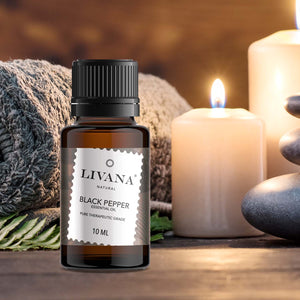 Black Pepper Essential Oil (10ml) - Livananatural