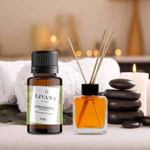 Lemongrass Essential Oil (10ml) - Livananatural