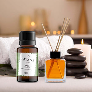 Basil Essential Oil (10ml) - Livananatural