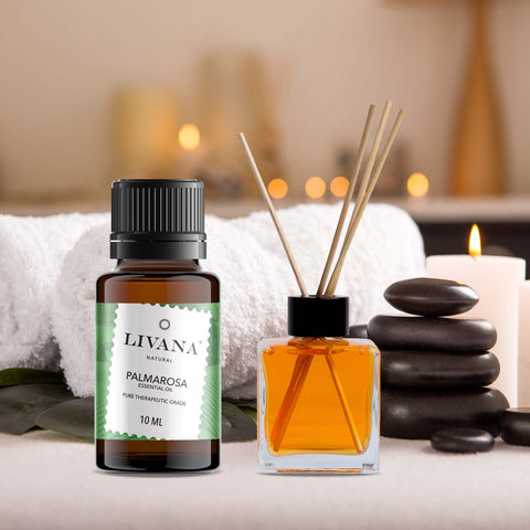 Image of Palmarosa Essential Oil (10ml) - Livananatural