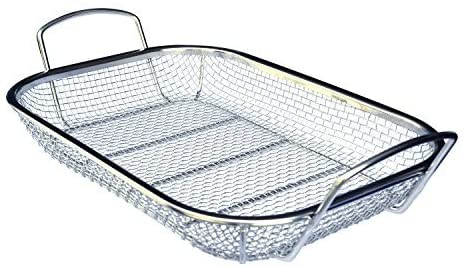 Culina Stainless Steel Square BBQ, Vegetable and Grilling Basket - Livananatural