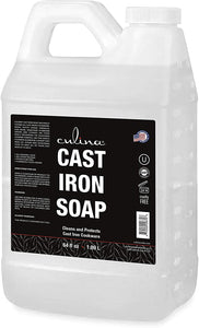 Cast Iron Soap by Culina - Cleans and Protects Cast Iron Cookware, Kosher Certified 64oz - Livananatural
