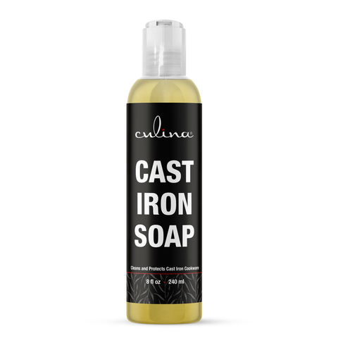 Image of Cast Iron Soap by Culina - Cleans and Protects Cast Iron Cookware, Kosher Certified 8oz - Livananatural