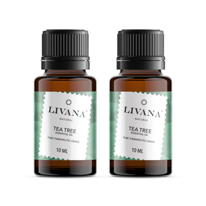 Tea Tree Essential Oil (10ml) 2 pack - Livananatural