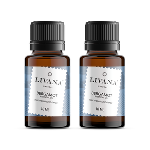 Bergamot Essential Oil (10ml) 2 pack - Livananatural