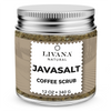 JavaSalt - 100% Natural Arabica Coffee Scrub with Organic Coffee, Coconut and Shea Butter - Best Acne, Anti Cellulite and Stretch Mark treatment, Spider Vein Therapy for Varicose Veins & Eczema 12 OZ - Livananatural