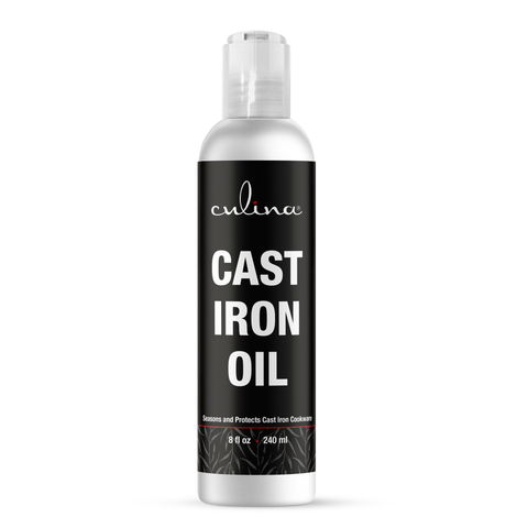 Image of Culina Cast Iron Oil Kosher OU Certified Cleans and Protects Cast Iron Cookware, 8 oz - Livananatural