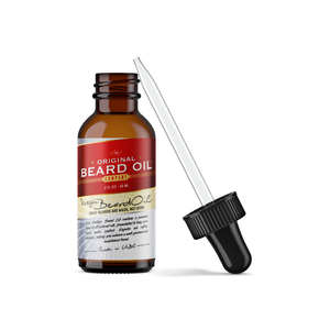 Vintage Beard Oil w Manuka (2 oz) 100% Natural, Original (Citrus), OU Kosher Certified, for Superior Shaping and Control - Livananatural