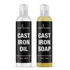 Cast-Iron Soap Kosher OU certified 8 oz Bundled with Cast-Iron Oil 8 oz by Culina Kosher OU Certified - Livananatural