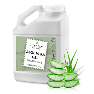 Aloe Vera Gel Organic - 1 Gallon - Made in USA | Fast Shipping - Livananatural