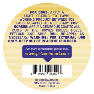 Paw Rescue w/ Manuka by Petzooli®, Protective Balm for Paws and Hooves, 2oz - Livananatural