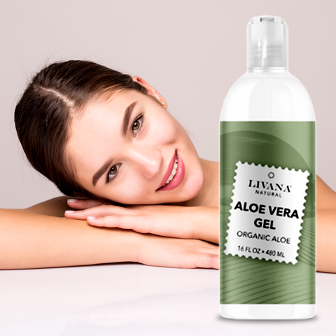 Image of Aloe Vera Gel - Organic Aloe Vera - 16 fl oz - 3 Pack - Livananatural