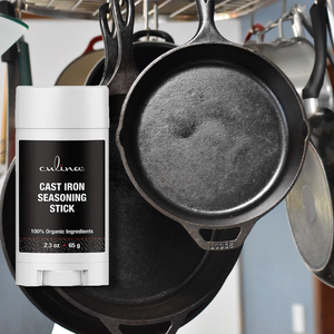 Culina Cast Iron Seasoning Stick | 100% Organic Ingredients | for Cast Iron Cookware, Skillets, Pans & Grills! - Livananatural