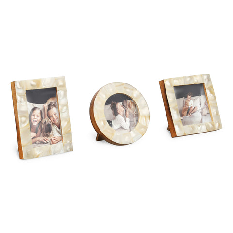Baby Photo Frames Set of 3 Pieces - MOP White