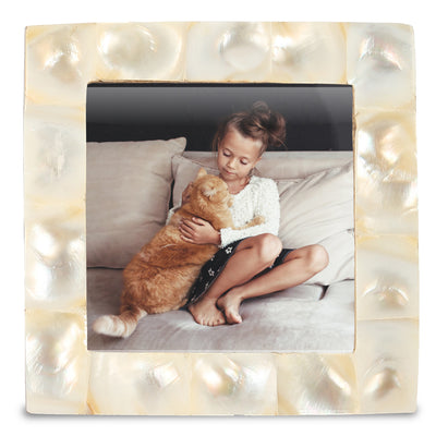 Baby Photo Frames Mother of Pearl Square